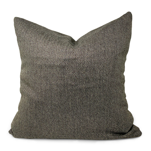 DW Large Herringbone / Blue Plaid Pillow
