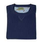 DW Lobster Motif Alpaca Sweater in Navy