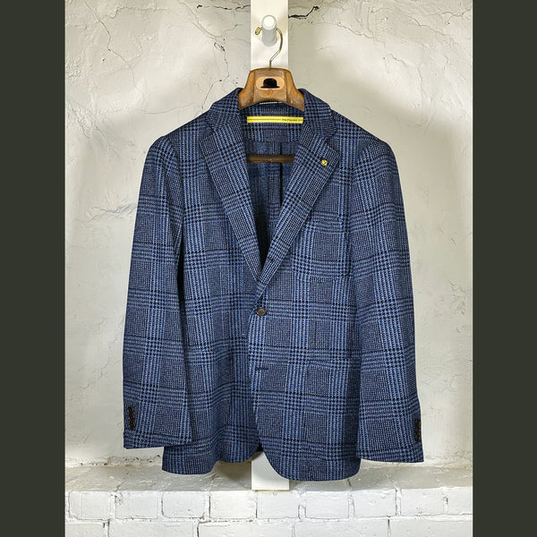 D by D. SYOUKEI Blue Plaid Sport Coat