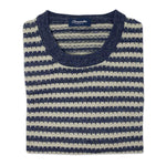 DRUMOHR Navy/Cream Crew Sweater