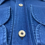 GIANNETTO PORTOFINO Dark Blue Chambray Shirt