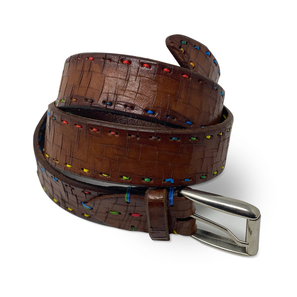 MARTIN DINGMAN Multicolor Stitch Belt