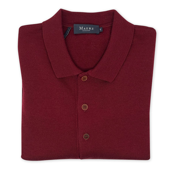 MAERZ Long Sleeve Wool Polo