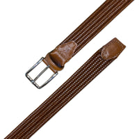 MARTIN DINGMAN Woven Leather Belt