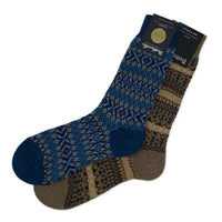 PANTHERELLA Fair Isle Cashmere Sock