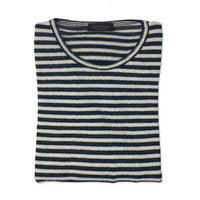 PHIL PETTER Striped Boucle Crew Neck