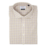SYSTEM 75 Beige & Purple Plaid Shirt