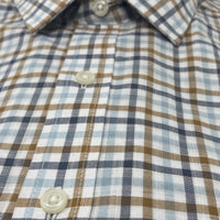 SYSTEM 75 Brown & Blue Gingham Shirt
