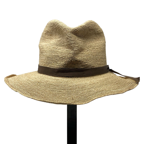 SUPER DUPER  Crushable Wide Brim Paper Straw Hat