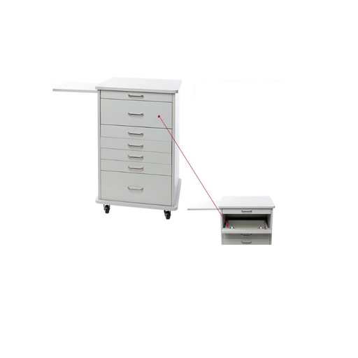 Assistant's North Carolina Mobile Cabinet Storage Supply Cart