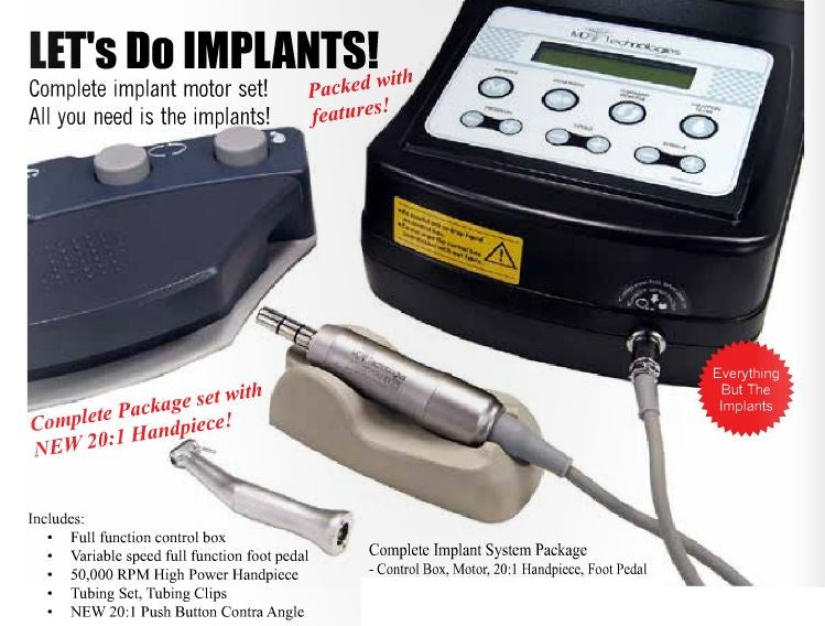 Implant Motor System with 20:1 Handpiece