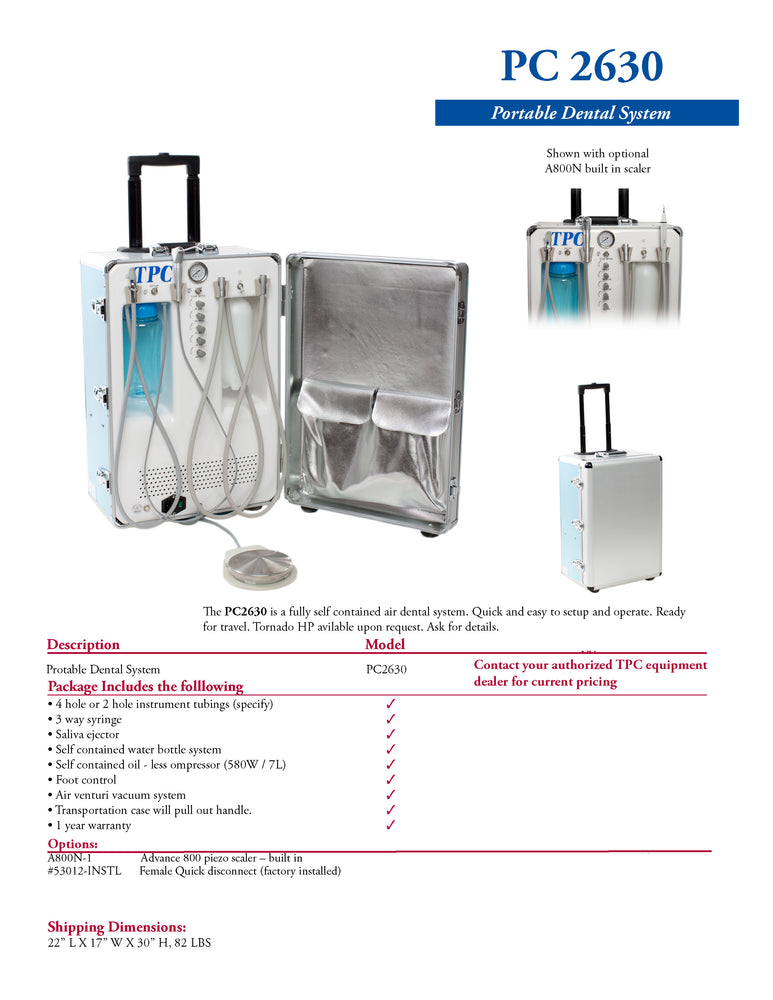 Portable Dental Delivery System