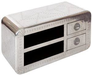 CAVU media unit - handmade in reclaimed wood and aluminium
