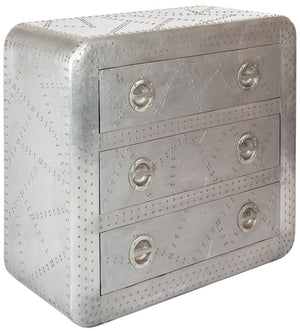 ALTITUDE - Aviator Style Metallic Reclaimed Chest Of Drawers Unique Handmade Design