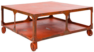 WHEELER coffee table | handmade in reclaimed metal