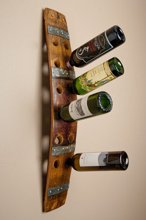 WALL WINE RACK - 12 BOTTLE - BANDED
