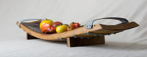 Centrepiece Fruit Bowl - 2 Wine Barrel Staves & Bands (Medium)