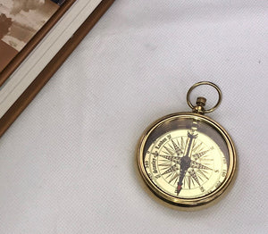 Vintage style classic brass compass