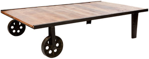 BARO - Industrial Wheelbarrow inspired Reclaimed Wood Coffee Table
