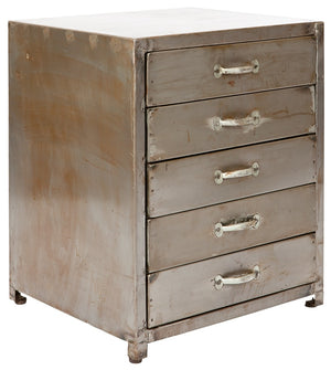 Vintage style bedside unit | handmade furniture in reclaimed metal