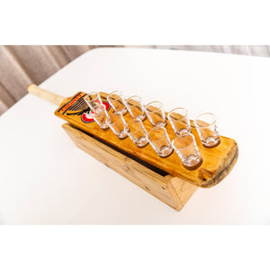 Cricket Bat Tequila Shot Glass Tray