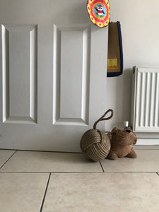 Natural Jute Rope Knot Door Stopper Home Decor