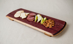 WINE INFUSED Wine Barrel Cheese Board