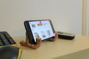Copper Pipe Industrial design smartphone stand