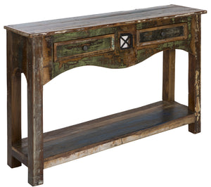 AMURU console table | handmade in solid reclaimed wood