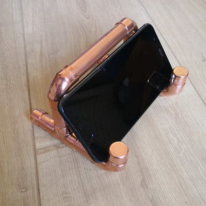 Industrial design Copper Pipe smartphone stand