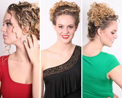 3 Holiday Curly Hair Updo's