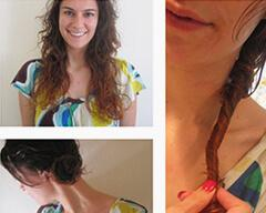 Quick Loose Curl Updo's