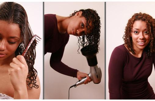 The Three Stages of Curly Hair Wet Styling