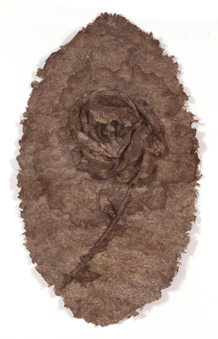 Rose on Bark Paper