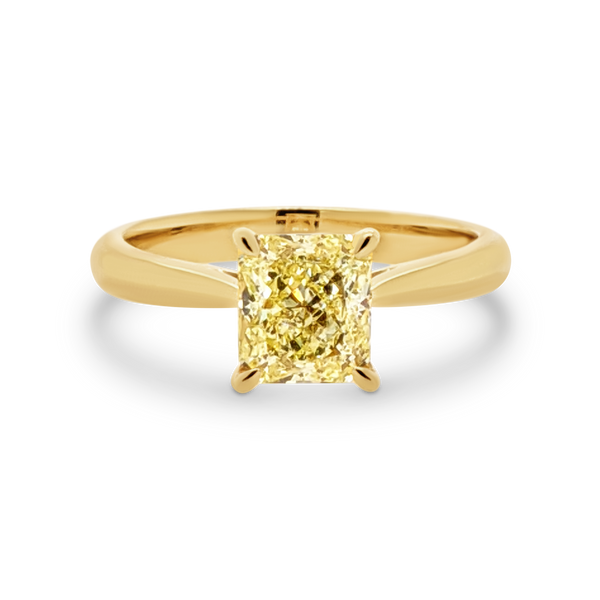 Yellow Diamond Solitaire Engagement Ring