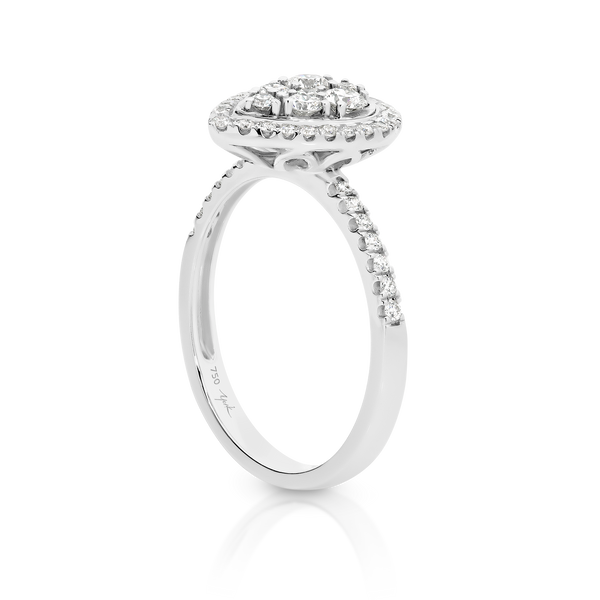 Diamond Pear Shaped Halo Ring