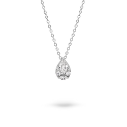 White Gold Diamond Slider Pendant with Chain