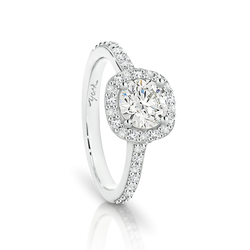 Passion8 Diamond Halo Engagement Ring