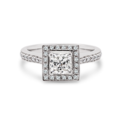 Passion8 Princess Cut Halo Ring