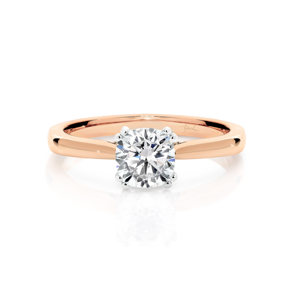 Cushion Cut Passion8 Diamond Solitaire Engagement Ring