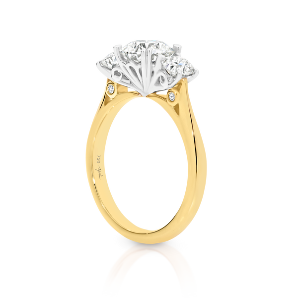 Australian Argyle Diamond Trilogy ring