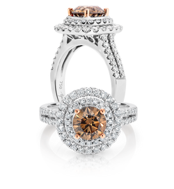 Australian Chocolate Diamond Ring