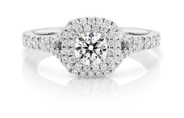 Passion8 Diamond Cushion Cut Engagement Ring