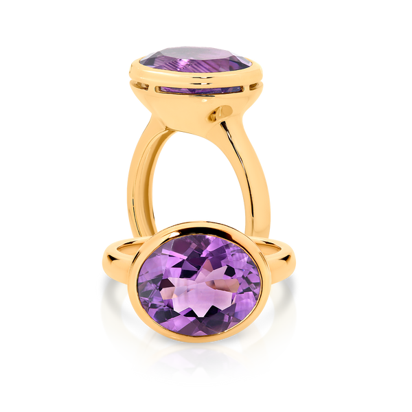 Oval Amethyst Dress Ring