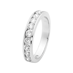 Round Channel Set Diamond Wedding Band