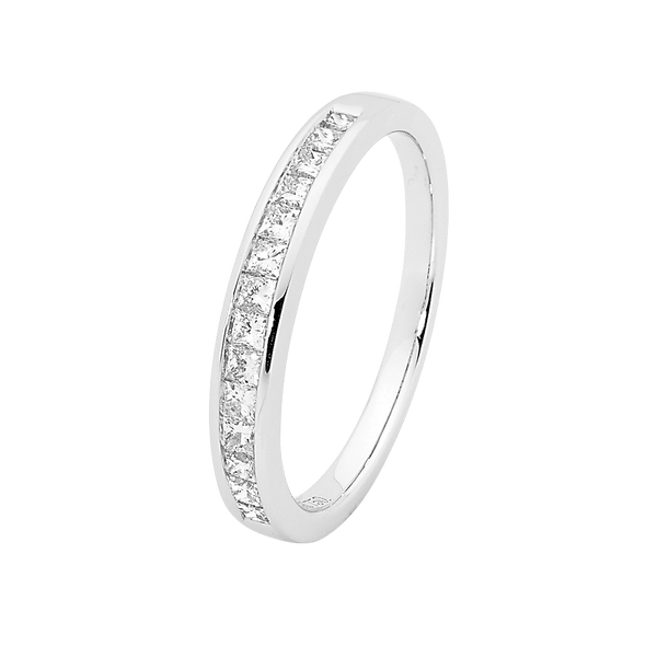 Princess Cut Channel Set Diamond Wedding Band