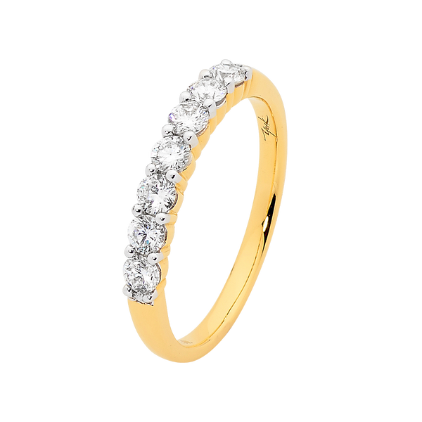 Shared Claw Set Diamond Wedding Band