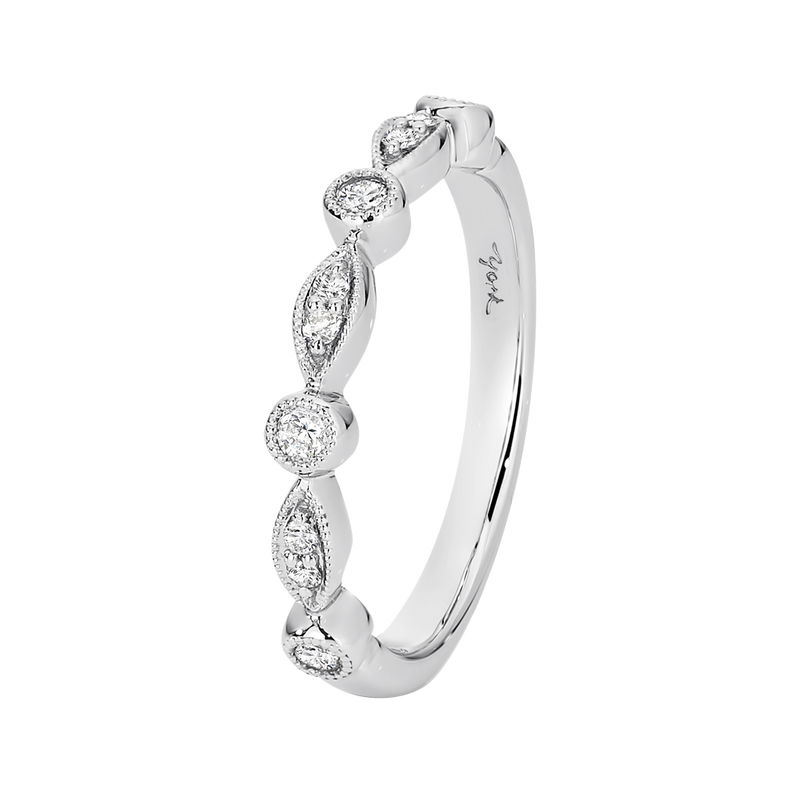 Fancy Design Diamond Set Wedding Band