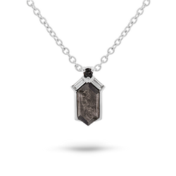 Salt & Pepper Diamond Pendant