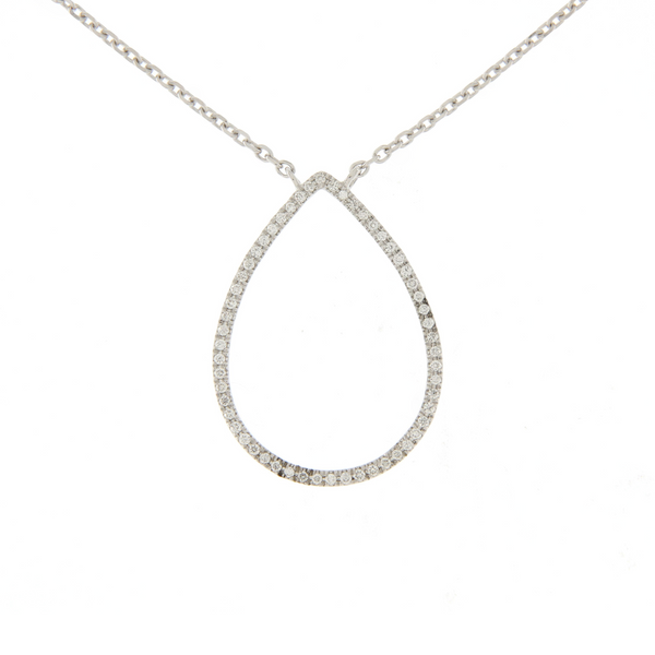 Diamond Open Teardrop Pendant